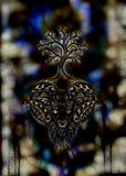Ornamental painting of Aries, sacred animal symbol and tree of life. Ornamental painting of Aries, sacred animal symbol and tree of life royalty free stock photos