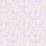 Ornamental pale pattern for web background decoration. Vector seamless texture Stock Photography