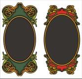 Ornamental panels Stock Image