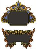 Ornamental panels Stock Photo