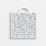 Ornamental paper bag Stock Images