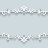 Ornamental paper frame Royalty Free Stock Images