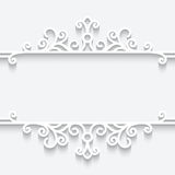 Ornamental paper frame. Abstract background with paper divider, header, ornamental frame Royalty Free Stock Photos