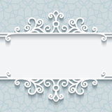 Ornamental paper frame Stock Image