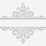 Ornamental paper frame Royalty Free Stock Photography