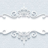 Ornamental paper frame Royalty Free Stock Image