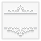 Ornamental paper frame Royalty Free Stock Photo