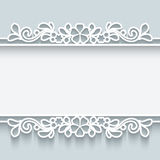 Ornamental paper frame. Abstract background with paper dividers, header, lacy ornamental frame Stock Photography