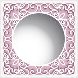 Ornamental paper frame with round hole Royalty Free Stock Photo