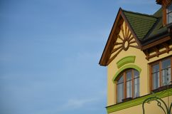 Ornamental part of building in komarno Royalty Free Stock Images