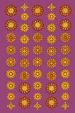 Ornamental pattern. Ornamental  circle pattern on lilac background Royalty Free Stock Photography
