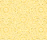 Ornamental pattern. Yellow ornamental pattern of iterative symmetric elements Stock Photography