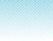 Ornamental Pattern blue. Seamless white geometric pattern for backgrounds and textures over blue gradient Stock Image