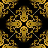 Ornamental pattern with damask motifs Stock Images