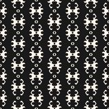 Ornamental pattern in ethnic style. Abstract traditional background. Folk texture. Ornamental seamless pattern in ethnic style. Vector black and white tribal Stock Illustration