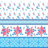 Ornamental pattern with flowers Stock Photography