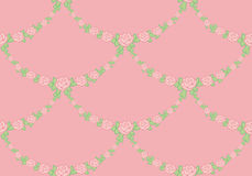 Ornamental pattern of garlands of roses Royalty Free Stock Photo