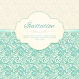 Ornamental pattern invitation card Royalty Free Stock Photo
