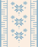 Ornamental pattern for knitting Royalty Free Stock Photography