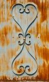 Ornamental pattern of metal. Ornamental pattern of rust metal Stock Photo