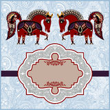 Ornamental pattern with place for your greetings, Stock Photography