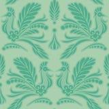 Ornamental pattern of silhouette birds Stock Image