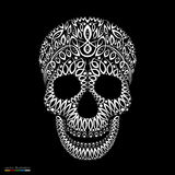 Ornamental pattern skull in tattoo style Royalty Free Stock Photography