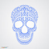 Ornamental pattern skull in tattoo style Royalty Free Stock Images