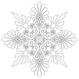 Ornamental pattern vector. Ornamental design, digital artwork, isolated stock illustration