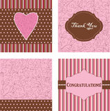 Ornamental pink cards Stock Images