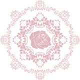 Ornamental pink circular element Royalty Free Stock Photos