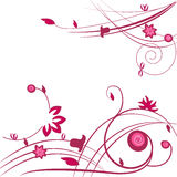 Ornamental pink flower vector background Royalty Free Stock Image