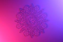 Ornamental pink mandala royalty free illustration