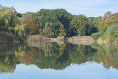 The Ornamental Pond Southampton in Autumn. A view across the ornamental Pond, Southampton, in Autumn Stock Photography