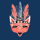 Ornamental portrait of a wolf Royalty Free Stock Photography