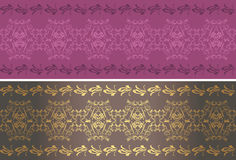 Ornamental purple and brown borders Royalty Free Stock Photos
