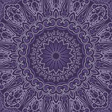 Ornamental purple round background Stock Photography