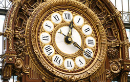 Ornamental Railway Clock. Antique French railway clock at the Musee d'Orsay Stock Image