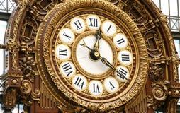 Ornamental Railway Clock Stock Image