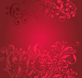 Ornamental red background Stock Images