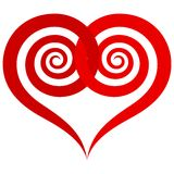 Ornamental red heart Royalty Free Stock Photo