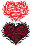 Ornamental red heart,  Royalty Free Stock Image