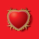 Ornamental red heart. An ornamental red heart with gold border and edging Royalty Free Stock Images