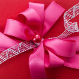 Ornamental red or scarlet bow Stock Photo