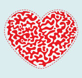 Ornamental red vector heart. For your greetings and cards on Valentine's Day vector illustration