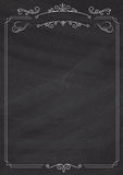 Ornamental retro border and blackboard textured background. A4 size vertical Cafe menu - ornamental retro border and blackboard textured background Royalty Free Stock Photography