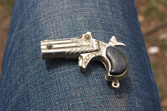 Ornamental retro pistol Royalty Free Stock Images