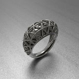 Ornamental ring. 3D illustration Royalty Free Stock Image
