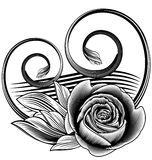 Ornamental rose vector illustration