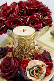 Ornamental rose candle Royalty Free Stock Image